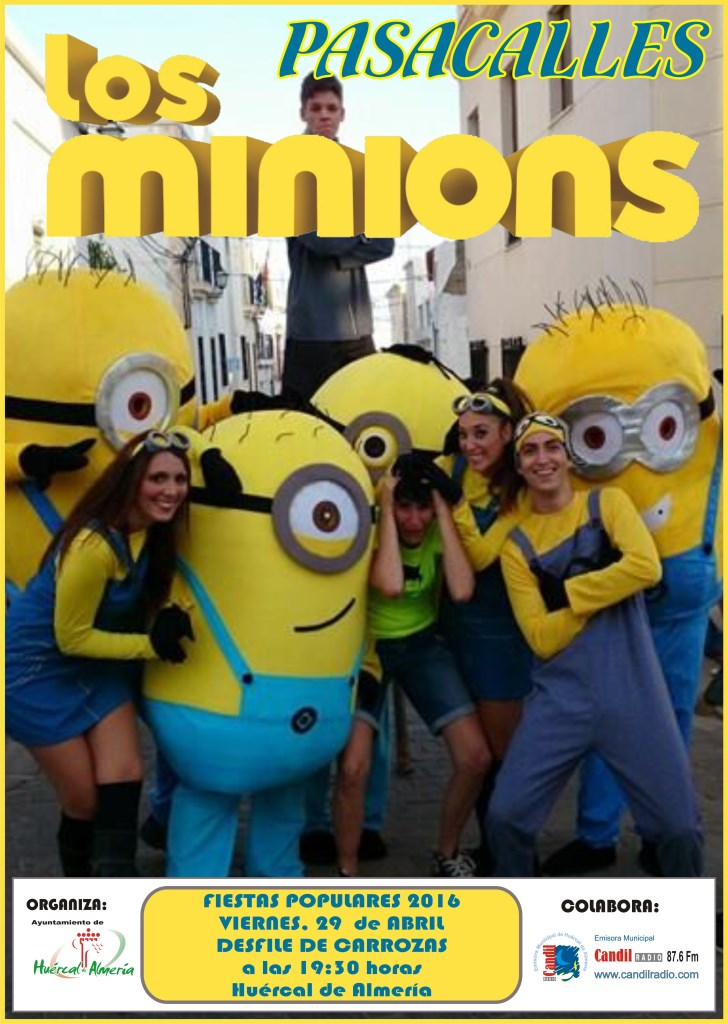 CARTEL PASACALLES LOS MINIONS 2016 copy
