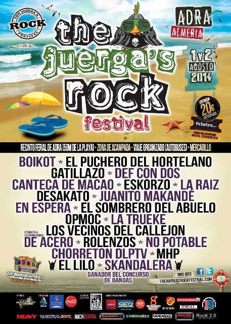 Cartel The Juergas Rock Festival 2014