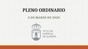 Pleno ordinario Huércal de Almería