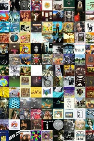 Collage portadas discos antiguos