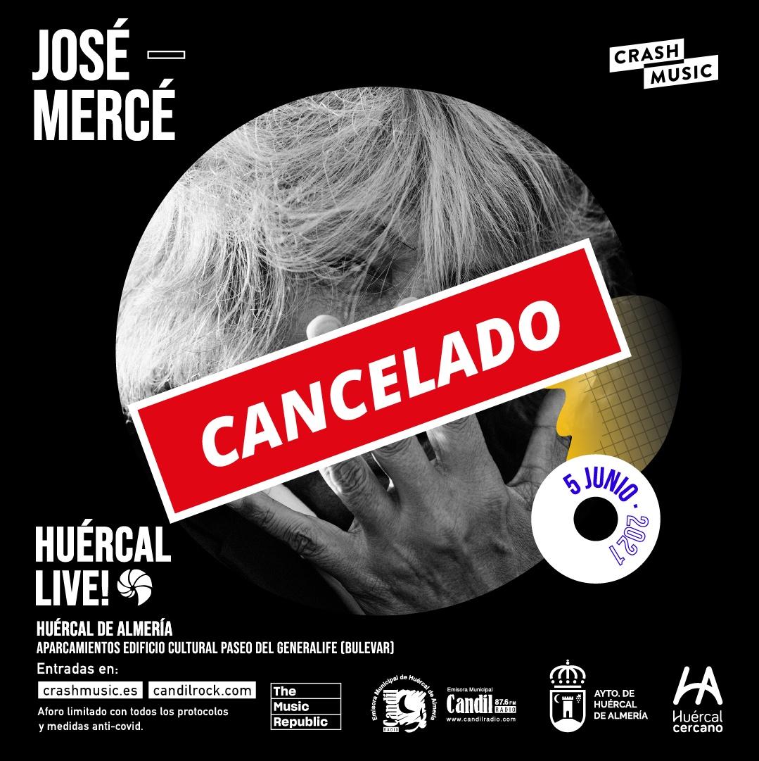Cancelación concierto Jose Merce